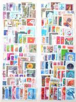 ~3.000 db külföldi zömében képes bélyeg 9 db A4-es berakólapon, Kabe rúgós borítóval