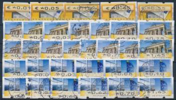 NSZK 2002-2008 32 db klf automata bélyeg stecklapon