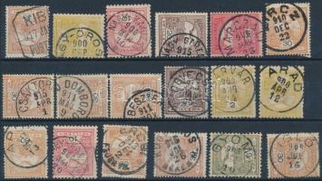 18 db Turul bélyeg szép/olvasható bélyegzésekkel
