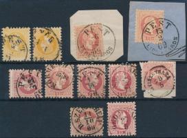 1867 11 db bélyeg szép bélyegzésekkel