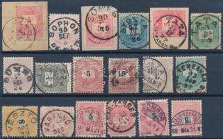 18 db krajcáros bélyeg szép bélyegzésekkel