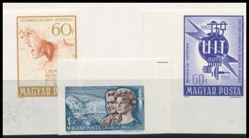 1965 3 db ívsarki vágott bélyeg