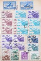 Dél-Korea 1947-2007 160 db bélyeg, 5 blokk, sorok és összefüggések 6 lapos közepes berakóban (Mi EUR 310,-)