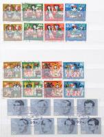 NSZK 1958-2007 103 db motívum sor + önálló értékek + 29 db blokk, 5 bélyegfüzetösszefüggés, másodpéldányok 16 lapos közepes berakóban (Mi EUR 620,-)