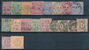 Ónémet 19 db bélyeg stecklapon (Mi EUR 160,-)