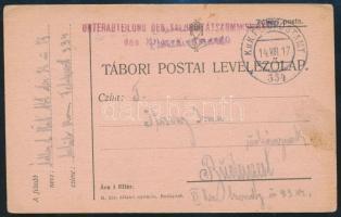 "Tábori posta levelezőlap ""UNTERABTEILUNG DER SALUBRITATSKOMISSION"" + ""FP 334"" Austria-Hungary Field Postcard ""UNTERABTEILUNG DER SALUBRITATSKOMISSION"" + ""FP 334"""