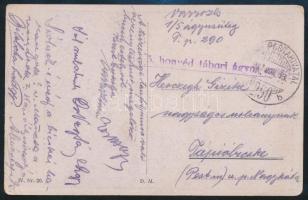 """Tábori posta képeslap """" M. kir. 5. honvéd tábori ágyus ezred"""" + """"TP 290 b"""" Austria-Hungary Field Postcard """" M. kir. 5. honvéd tábori ágyus ezred"""" + """"TP 290 b"""""""