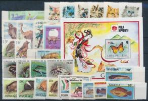 1991-1995 Állat motívum 29 db bélyeg + 1 db blokk stecklapon