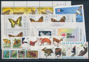 1991-1994 Állat motívum 27 db bélyeg + 2 db blokk stecklapon