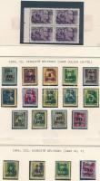 1945-1946 17 klf inflációs sor házikészítésű albumlapokon