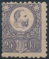 1871 Réznyomat 25kr javított gumival