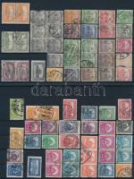 1900-2009 116 db magyar bélyeg katalógussorrendben, közte párok, sorok, tömbök 4 db stecklapon