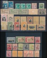 Románia 41 db régi bélyeg 2 stecklapon