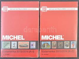Michel 2 kötetes Dél-Amerika katalógus 2013/2014 Tengerentúl 3/1 + 3/2 kötetek új állapotban