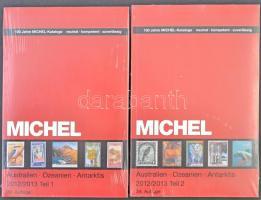 Michel Ausztrália Óceánia Antarktisz 2012/2013 2 kötetes katalógus Tengerentúl 7/1 és 7/2 új állapotban