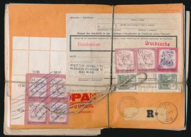 Kb. 88 db külföldi, főleg üzleti levél, közte több ajánlott