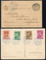 5 klf emléklap (Állatkert, Cserkész, stb.) + 1909 díjjegyes levelezőlap
