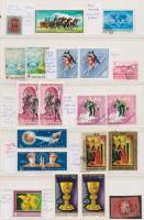 Magyar nyomdai hibás bélyegek, melyekből több szerepel a katalógusban + támpéldányok 2 db A4-es berakólapon