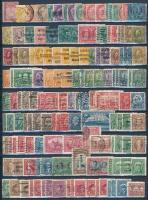 Kanada kis összeállítás sok postatisztával, jó értékekkel, vágási és fogazási eltérésekkel 3 db berakólapon (Mi EUR ~563,-)