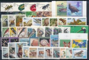 1990-1994 Állat motívum 44 db klf bélyeg, közte teljes sorok, ívszéli értékek ás tabos értékek stecklapon