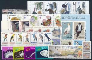 1992-1994 Állat motívum 41 db bélyeg, közte teljes sorok, ívszéli értékek és összefüggések stecklapon