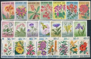1965-1983 Virág motívum 9 klf sor 2 db stecklapon