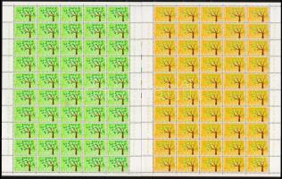 Europa CEPT sor 50-es hajtott teljes ívekben Europa CEPT set folded full sheet of 50