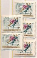1955 5 db Téli sport sor (10.000)