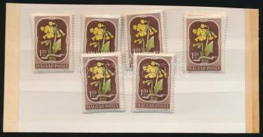 1951 Virág (II.) 6 db sor (10.200)