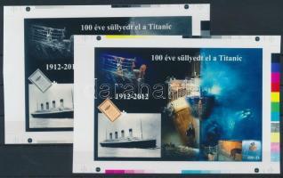 2012/03 Titanic cromalin emlékívpár (120.000)