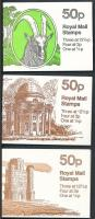 Romok és kecske 3 klf bélyegfüzet Ruins and goat 3 diff stamp booklets