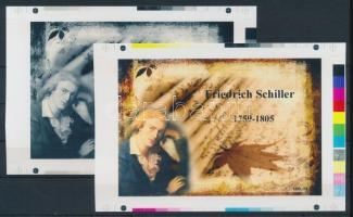 2013 Friedrich Schiller cromalin emlékívpár (120.000)