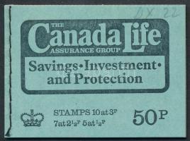 """Canada Life"" február bélyegfüzet ""Canada Life"" February stamp-booklet"