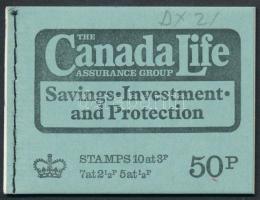 """Canada Life"" április bélyegfüzet ""Canada Life"" April stamp-booklet"