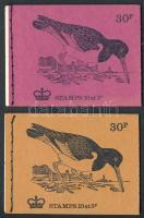 """""""Oyster-catscher"""" június + okker augusztus bélyegfüzet pár """"Oyster-catscher"""" June + August stamp-bookelt pair"""