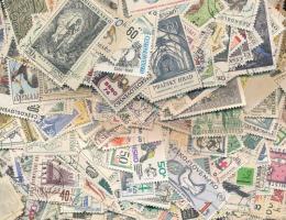 Csehszlovákia 132 gramm bélyeg zacskóban ömlesztve