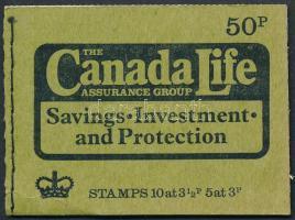 """""""Canada Life"""" autumn bélyegfüzet pár """"Canada Life"""" autumn stamp-booklet pair"""