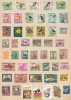 Angol, Ausztrál, Kanada, USA, Új-Zéland, Írország néhány száz db külföldi bélyeg A4-es spirál füzetben