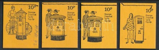1972 Postaláda sorozat 4 klf bélyegfüzet Mi MH 35 c II, d I-II, e I
