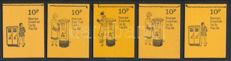 Postaláda sorozat 5 klf bélyegfüzet Mailbox series 5 stamp-booklets