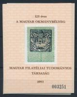 1993/4 10 db Okmánybélyeg emlékív (35.000)