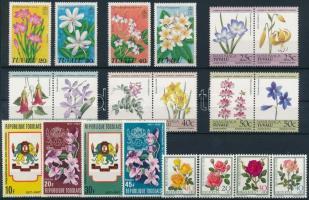 1965-1985 Virág motívum 6 klf sor 2 db stecklapon