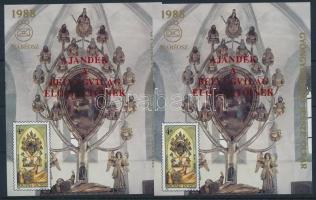 1996/A24 2 db Gyöngyöspata felülnyomott emlékív (24.000)