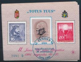1998/25a 20 db II. János Pál pápa megválasztásának 20. évfordulója emlékív kék felülnyomással (30.000)