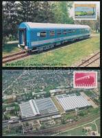 1996/9-10 Vasút 8 db-os emlékív garnitúra (52.500)