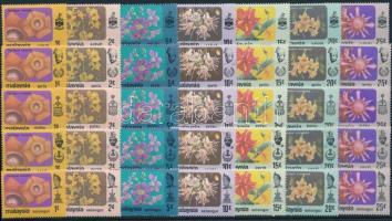 Maláj államok 1979 Virág motívum 10 db sor 2 db stecklapon