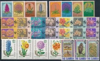 1963-1982 Virág motívum 6 klf sor