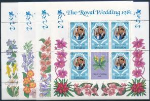 Károly herceg és Lady Diana esküvője kisívsor Prince Charles and Lady Diana's wedding mini sheet set
