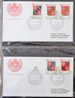 Máltai lovagrend FDC gyűjtemény 1970-1990 2 db levélberakóban
