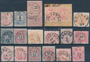19 db Krajcáros bélyeg szép bélyegzésekkel